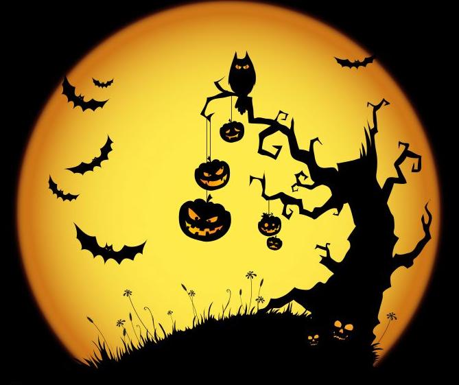 halloween,-arbre-hante,-chauves-souris